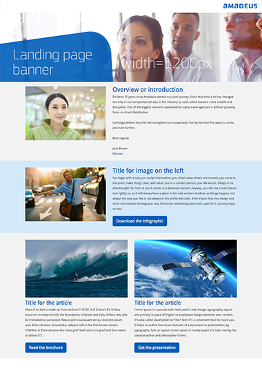 Landing page template 1